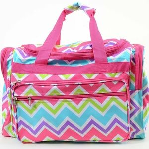 Bright CHEVRON DUFFLE Vegan Carrying Cheer Workout